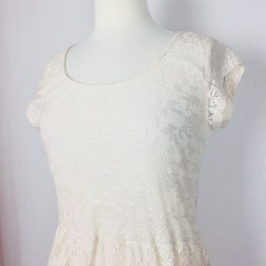 Dorothy Perkins UK 12 US 8 Dress Off White Short